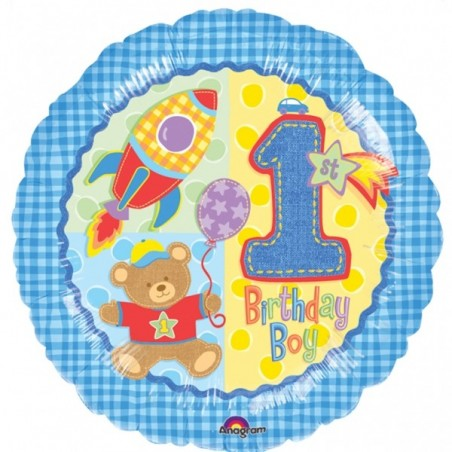 Balon folie 45 cm 1st Birthday Boy