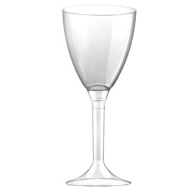 Set 6 pahare vin cu picior transparent