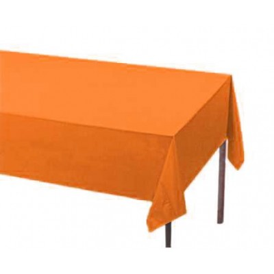 Fata de masa orange din hartie, la rola