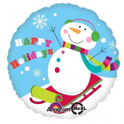 Balon folie 45 cm Craciun - Happy Holidays