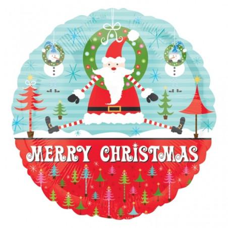 Balon folie 45 cm Merry Christmas