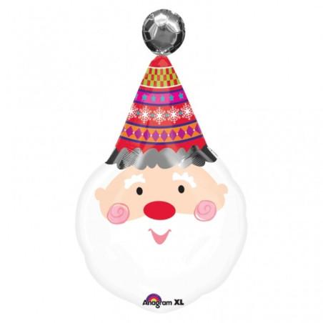 Balon folie figurina Cap Mos Craciun