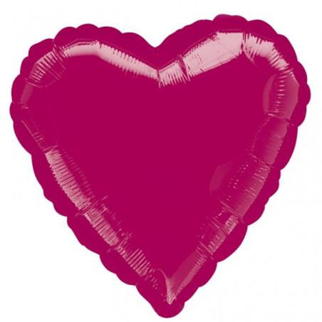 Balon folie 45 cm inima uni burgundy