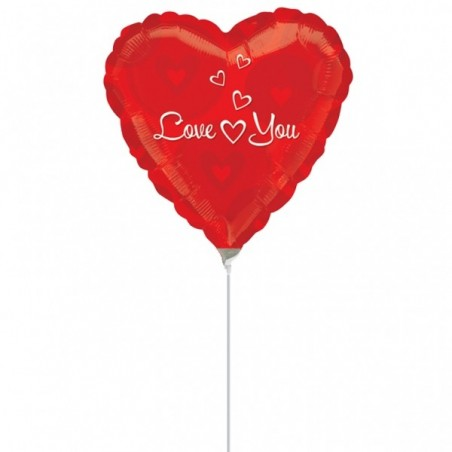 Balon mini folie inima Love You