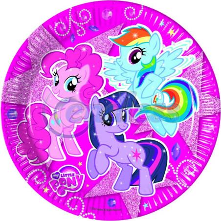 Set 8 farfurii My Little Pony Sparkle 23 cm