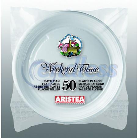 Set 50 farfurii albe plate 20.3 cm