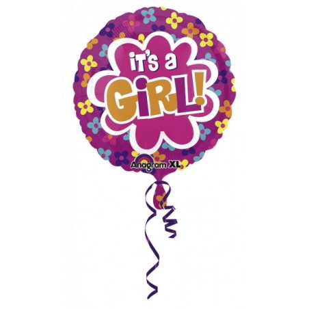 Balon folie It's A Girl Colorblast, 53 cm