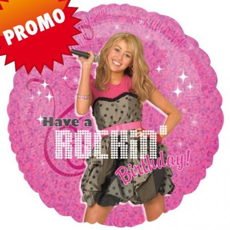 Balon folie 45 cm Hanna Montana Rockin Birthday