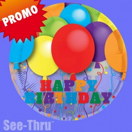 Balon folie transparenta Happy Birthday