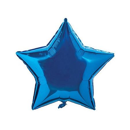 Folie 45 cm uni stea albastra