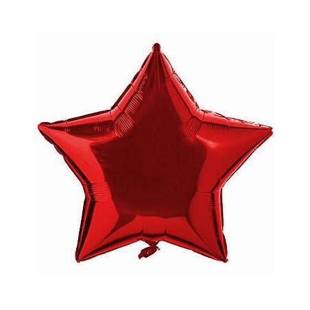Folie 45 cm uni stea rosie