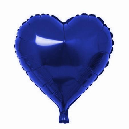 Folie 45 cm uni inima albastra
