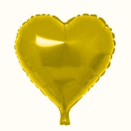 Folie 45 cm uni inima aurie