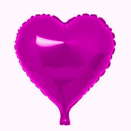 Folie 45 cm uni inima fuchsia
