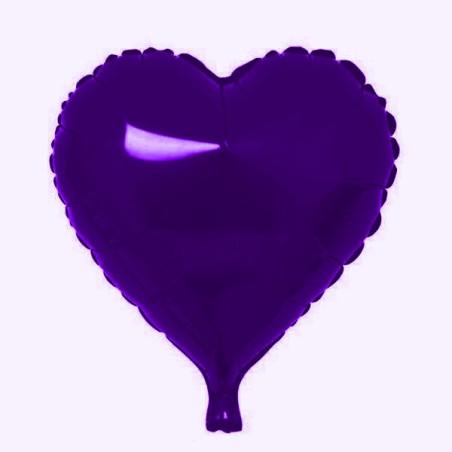 Folie 45 cm uni inima mov