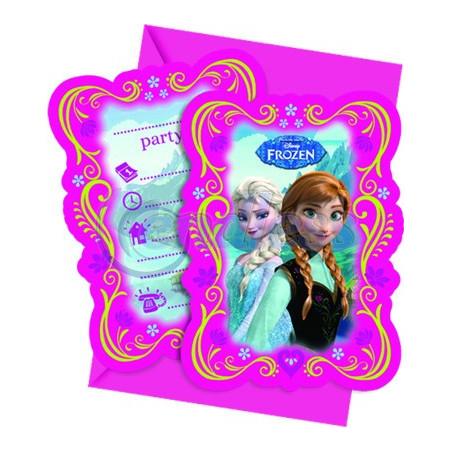 Set 6 invitatii cu plicuri Frozen
