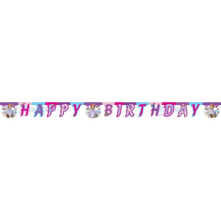 Banner litere Happy Birthday Sofia