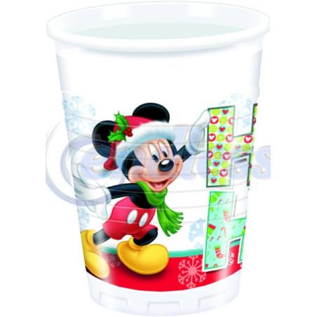 Set 8 pahare party Mickey Xmas