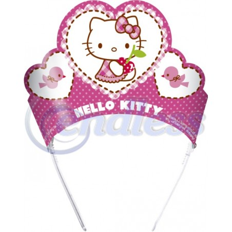 Set 6 coronite Hello Kitty Hearts