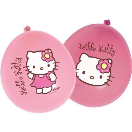 12 baloane latex party Hello Kitty Bamboo