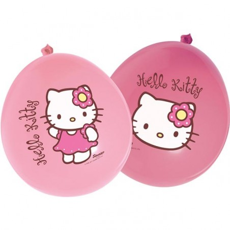 12 baloane latex party Hello Kitty Bamboo