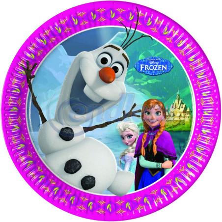 Set 8 farfurii party 20 cm Frozen