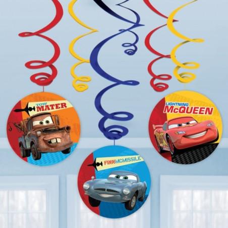 Set 6 decoratiuni spirale Cars