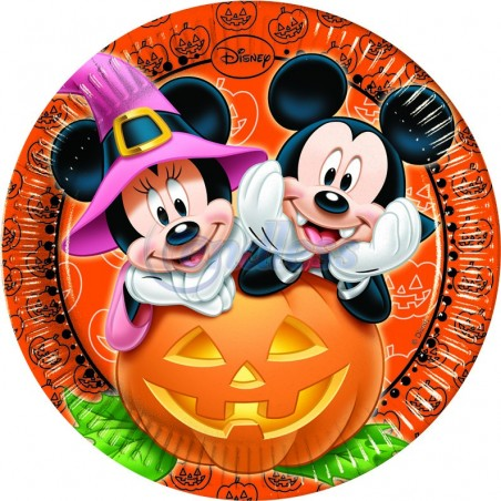 Set 8 farfurii party 23 cm Mickey Halloween