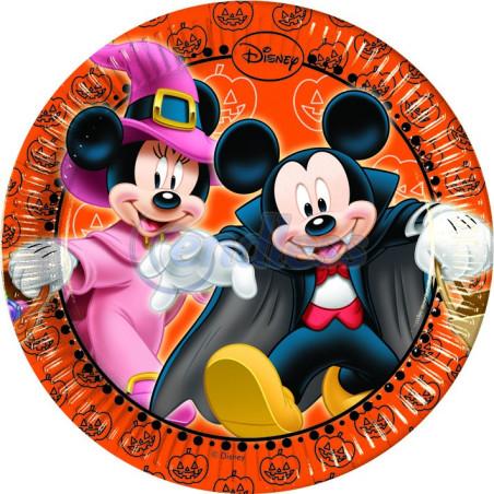 Set 8 farfurii party 20 cm Mickey Halloween
