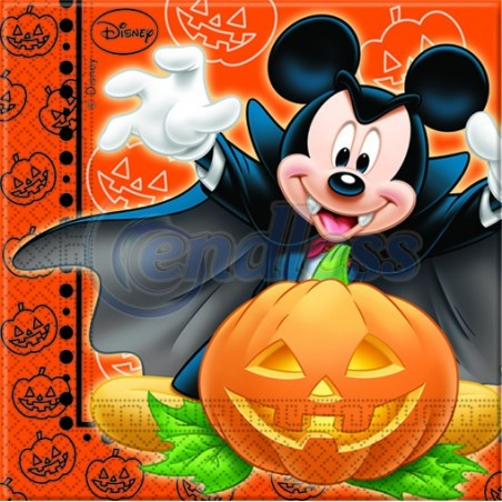 Set 20 servetele party Mickey Halloween