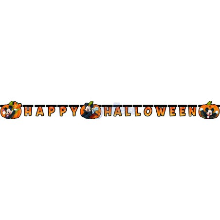 Banner litere Happy Halloween Mickey Mouse