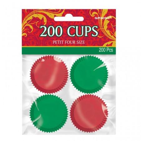 Set 200 forme mini briose rosii si verzi