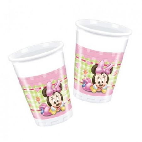 Set 8 pahare party Minnie Baby