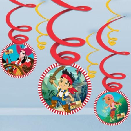 Set 6 decoratiuni spirale Jake si Piratii