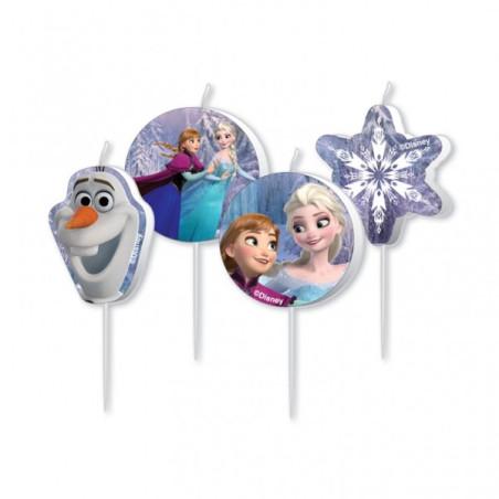 Set 4 lumanari figurine Frozen