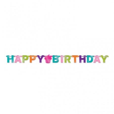 Banner litere Happy Birthday 2.2 m