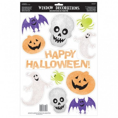 Decoratiuni geam Halloween glitter