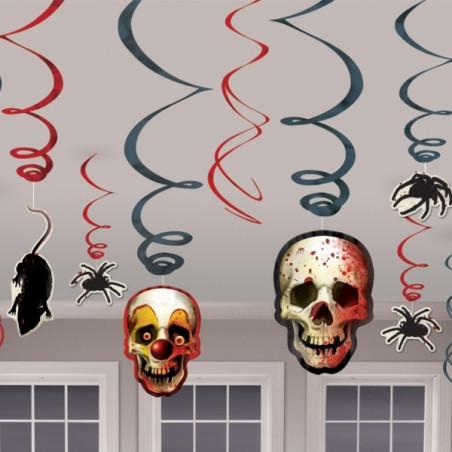 Set 6 spirale decorate Halloween
