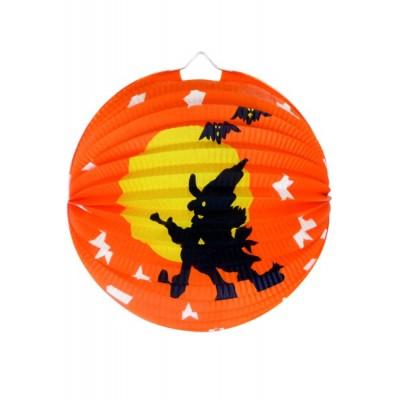 Halloween lampion rotund vrajitoare 30 cm