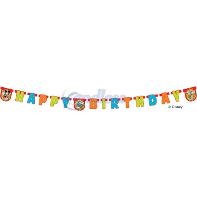 Banner litere Happy Birthday Mickey Clubhouse