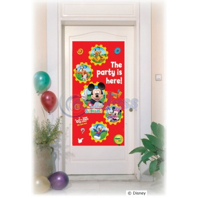"Banner decorativ usa ""The party is here"""
