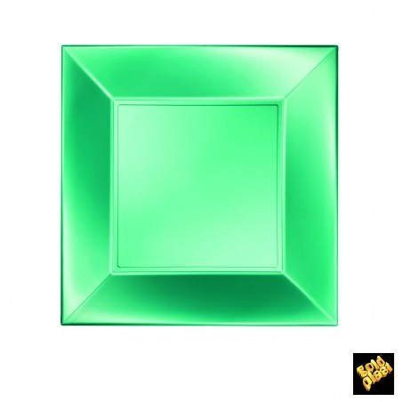 Set 8 farfurii verde perla 23 cm