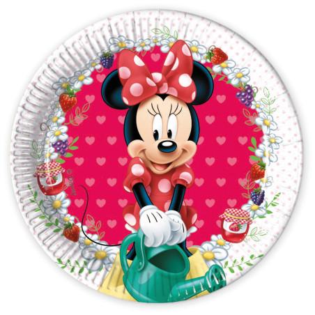Set 8 farfurii carton 20 cm Minnie Jam Packed with Love