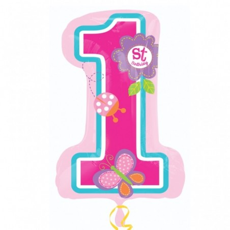 Folie figurina cifra 1 Sweet Birthday Girl