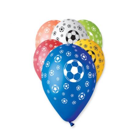 Set 100 baloane asortate inscriptionate fotbal