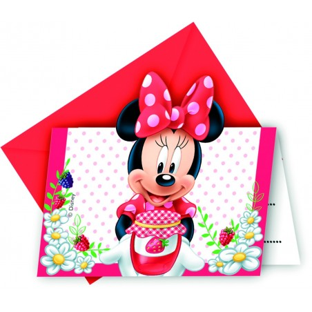 Set 6 invitatii party Minnie Jam Packed with Love