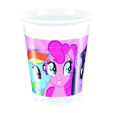 Set 8 pahare party Pony Rainbow