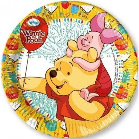 Set 8 farfurii party carton 20 cm Winnie Sweet Tweets