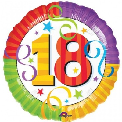 Balon folie 45 cm 18 ani Birthday