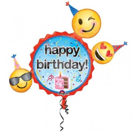 Folie figurina Smiley Happy Birthday